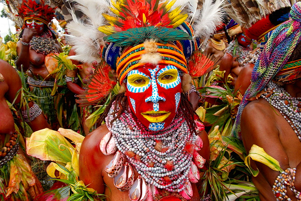 Sing-sing annual tribal gathering, Mount Hagen Cultural Show, Western Highlands, Papua New Guinea - 817-96812