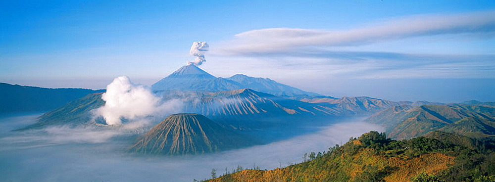 Bromo and Semeru volcano and Tengger caldera, Java island, Indonesia