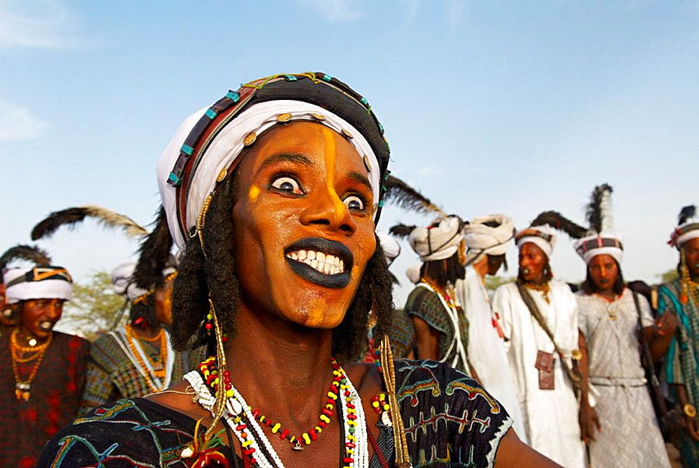 Wodaabe-Bororo men, Gerewol festival, Niger
