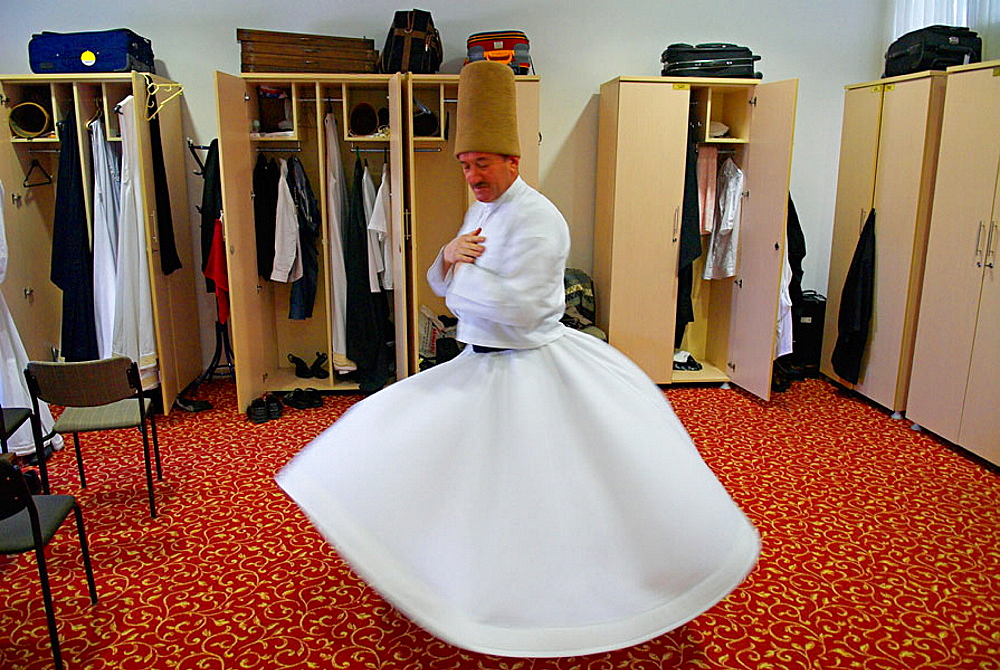 Whirling dervish, Konya, Central Anatolia, Turkey