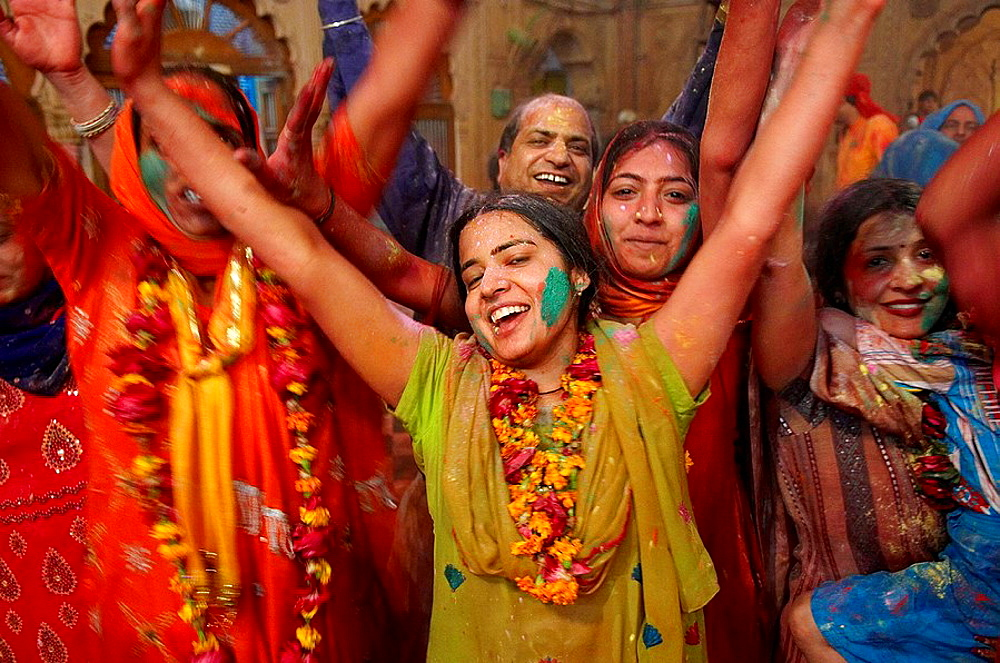 India, Holi festival, color and spring festival. - 817-97878