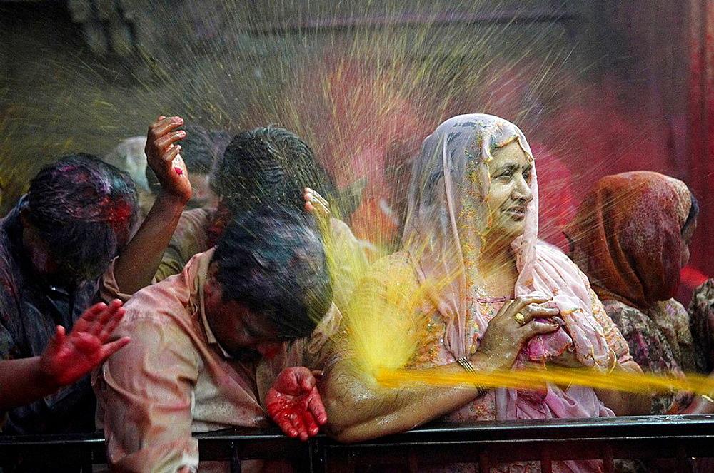 India, Holi festival, color and spring festival. - 817-97883