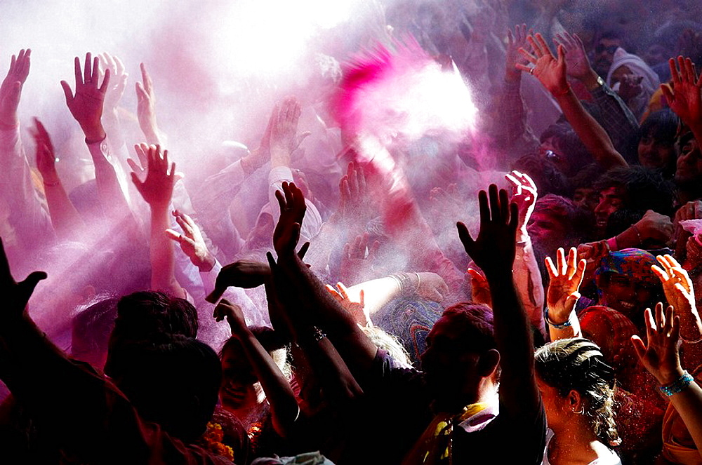 India, Holi festival, color and spring festival. - 817-97887