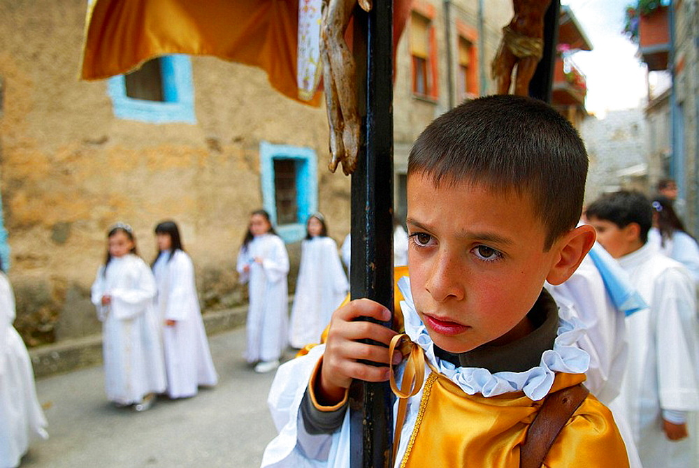 Procession of the Madonna of the Martyrs, Fonni, Nuoro province, Sardinia, Italy