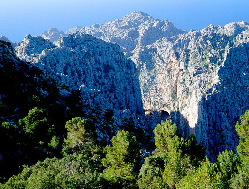 Torrent de Pareis, Sierra de Tramuntana, Majorca, Balearic Islands, Spain