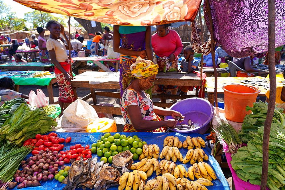 Weekly market at Belo sur Tsiribihina, Menabe region, Western Madagascar, Africa