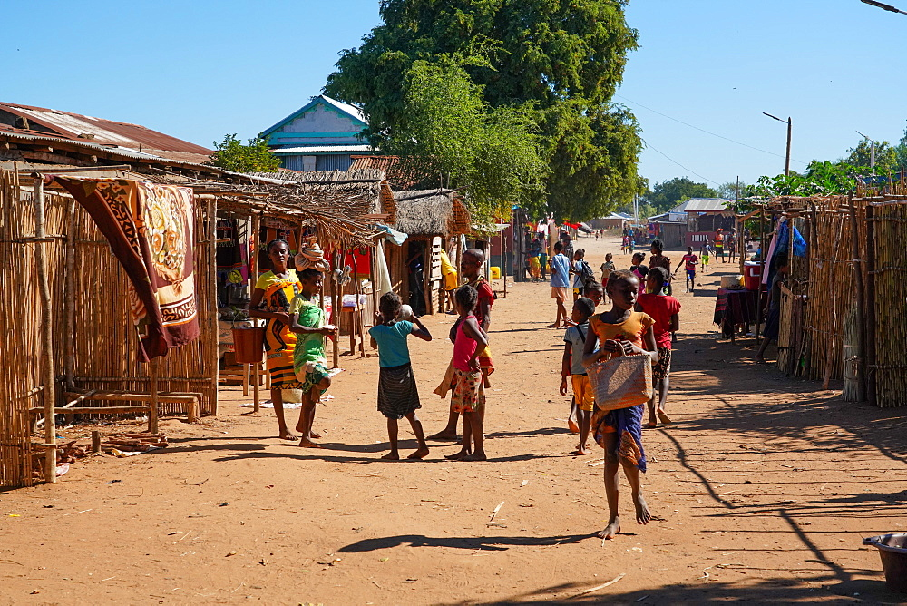 Local people in Bekopaka village, Tsingy de Bemaraha National Park, Melaky Region, Western Madagascar
