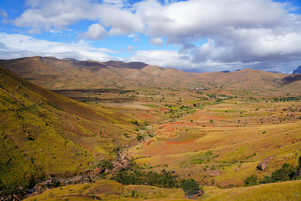Landscape on the RN7 close to Ambalavao, Fianarantsoa province, Ihorombe Region, Southern Madagascar