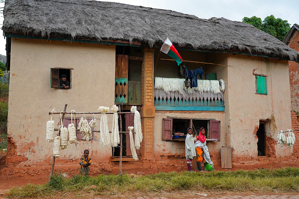 Rural house on the RN7, Fianarantsoa province, Ihorombe Region, Southern Madagascar