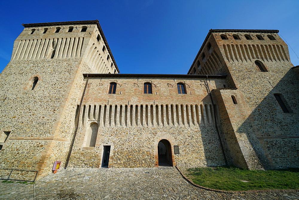 Torrechiara Castle, Langhirano, Parma, Emilia-Romagna, Italy, Europe