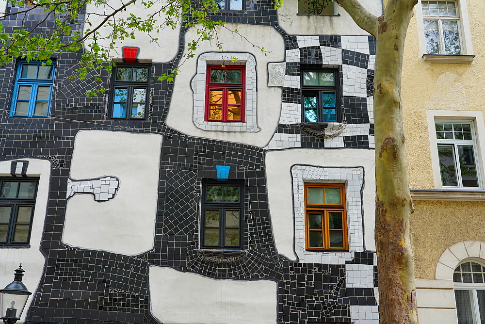 The KunstHaus Wien is a museum in Vienna, designed by the artist Friedensreich Hundertwasser, Vienna, Wien, Austria, Europe