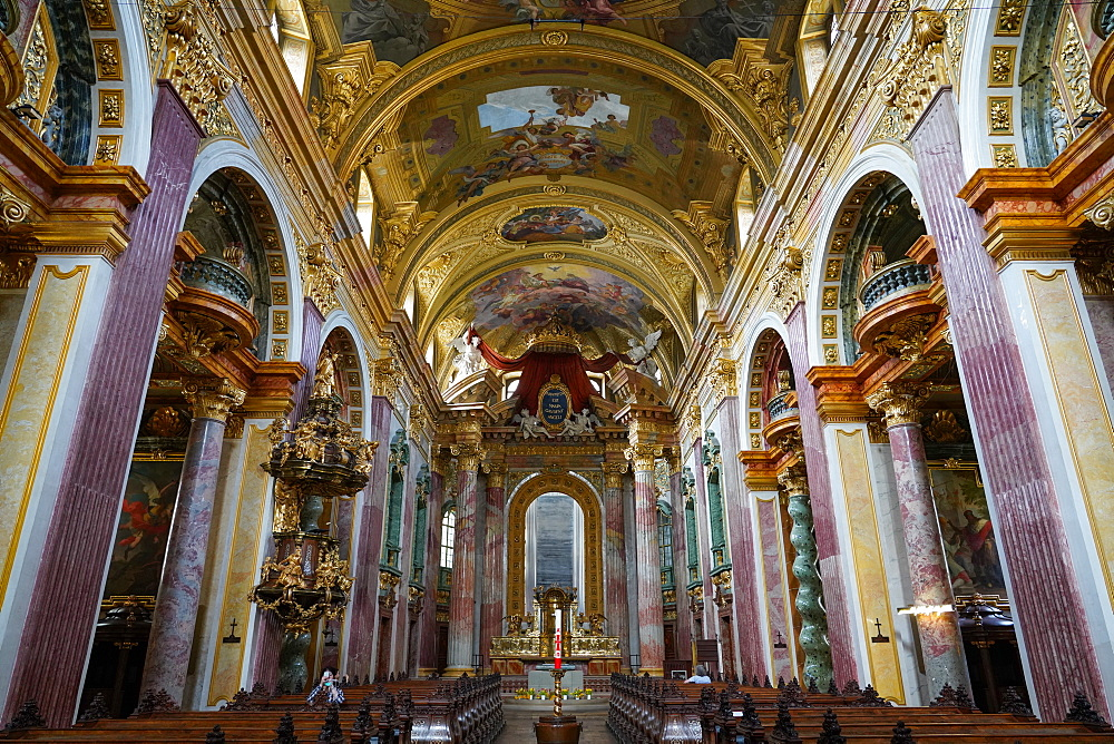 The Jesuit Church, Jesuitenkirche, also known as the University Church, Vienna, Wien, Austria, Europe