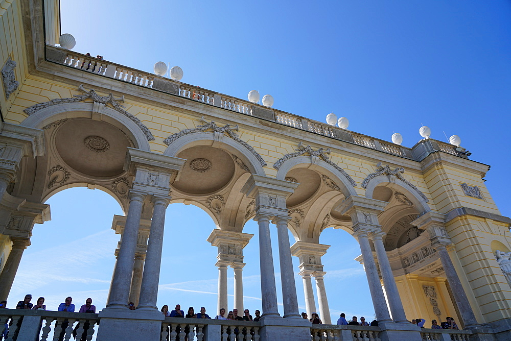 The Gloriette in the Schönbrunn Palace gardens, Vienna, Wien, Austria, Europe
