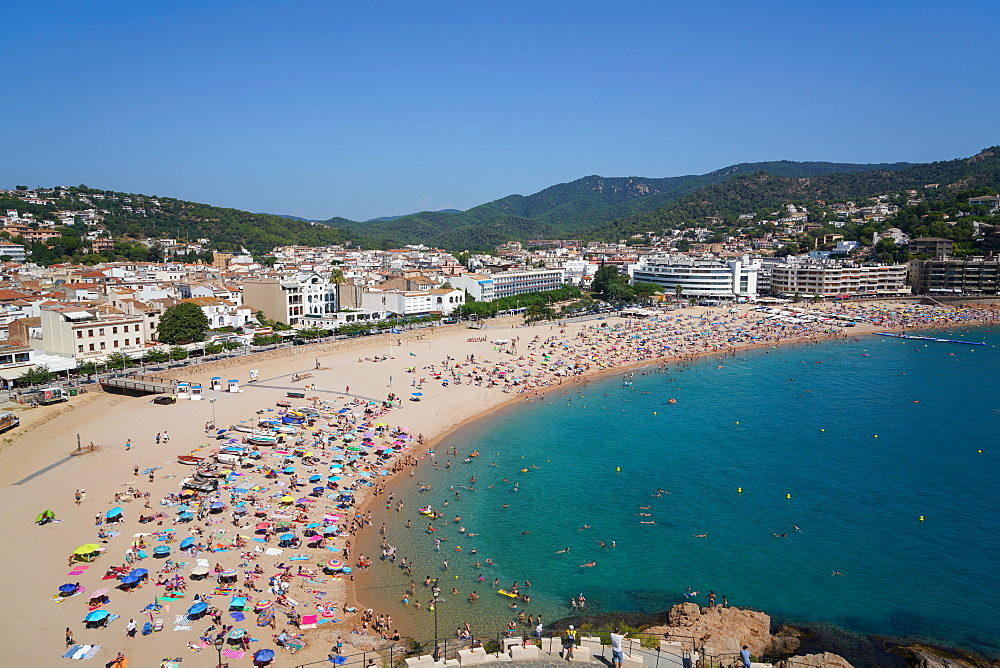 The Tossa beach, Tossa de Mar, Costa Brava, Catalonia, Spain, Europe