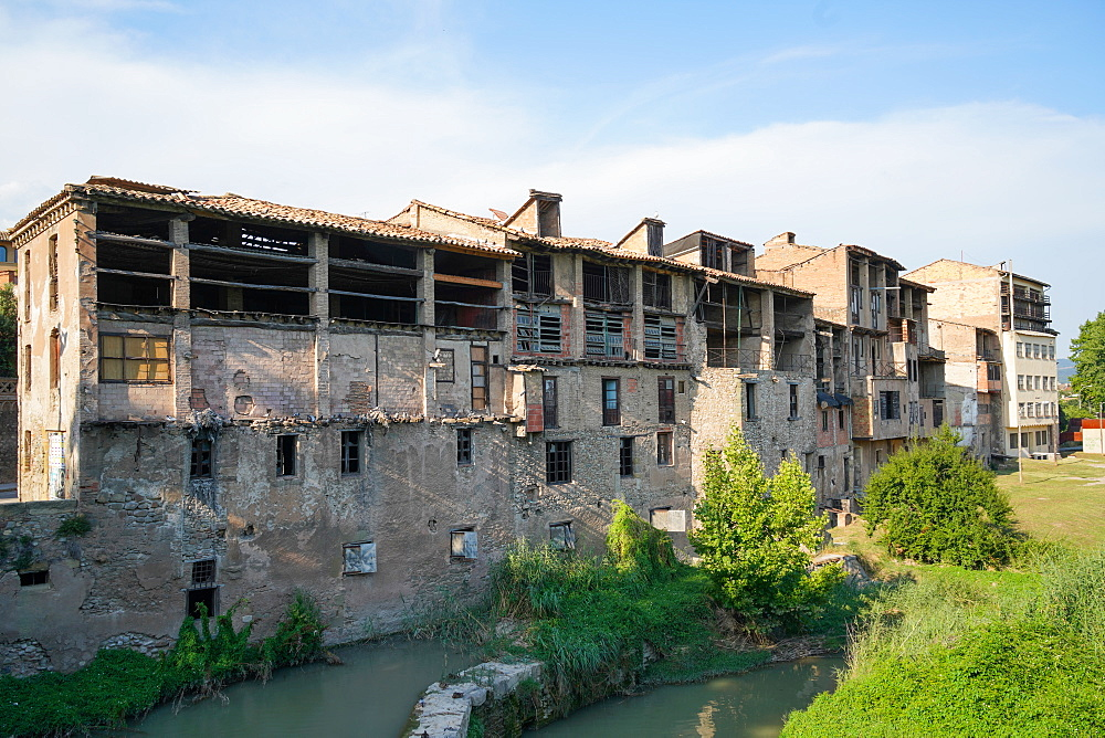 The tannery district, Vic, Barcelona province, Catalonia, Spain, Europe - 819-1213