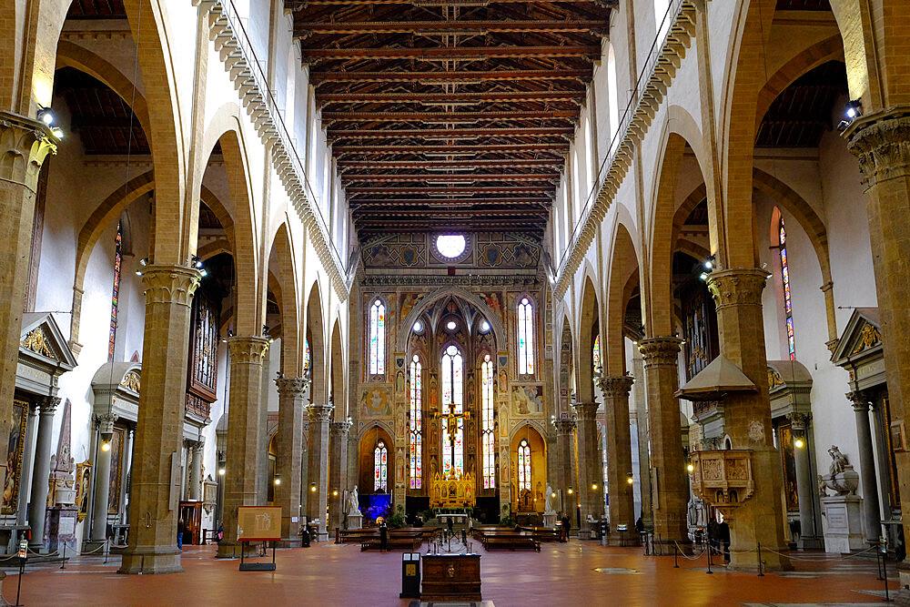 Santa Croce Basilica, Florence, UNESCO World Heritage Site, Tuscany, Italy, Europe - 819-1240