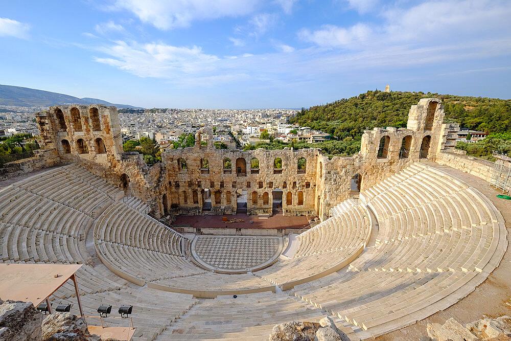 Odeon of Herodes Atticus, Acropolis, UNESCO World Heritage Site, Athens, Greece, Europe - 819-1286