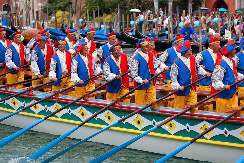 Regata Storica di Venezia, the most important traditional event in Venice, UNESCO World Heritage Site, Veneto, Italy, Europe