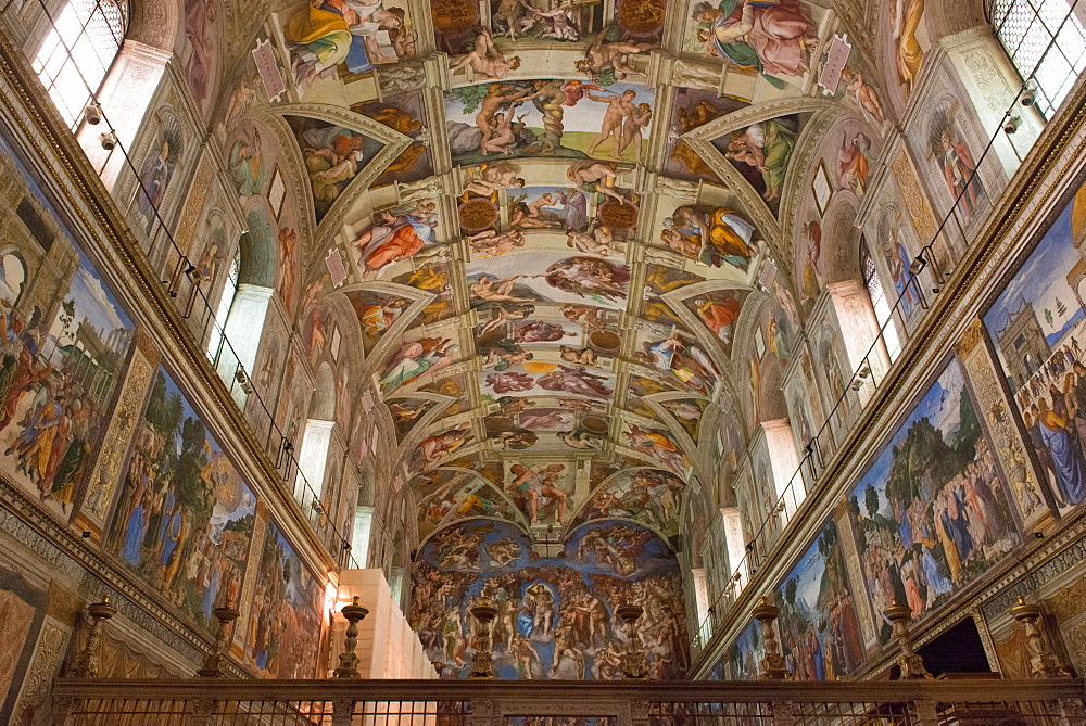 The Sistine Chapel by Michelangelo in the Vatican Museums, Rome, Lazio, Italy, Europe