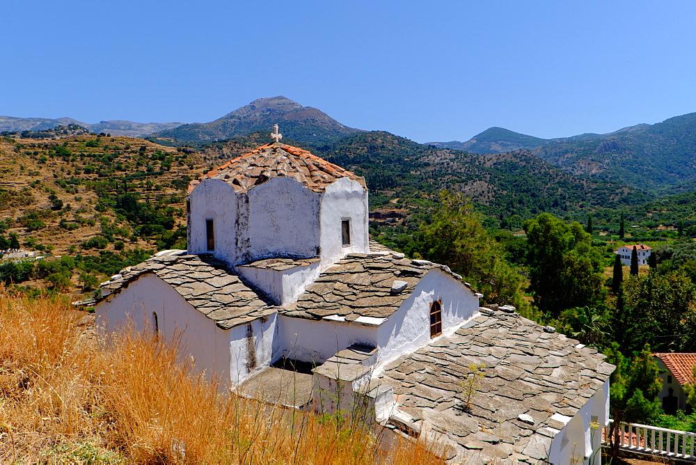 Church of Agia Irini, 12th century, Kambos, Ikaria, North Aegean Islands, Greek Islands, Greece, Europe