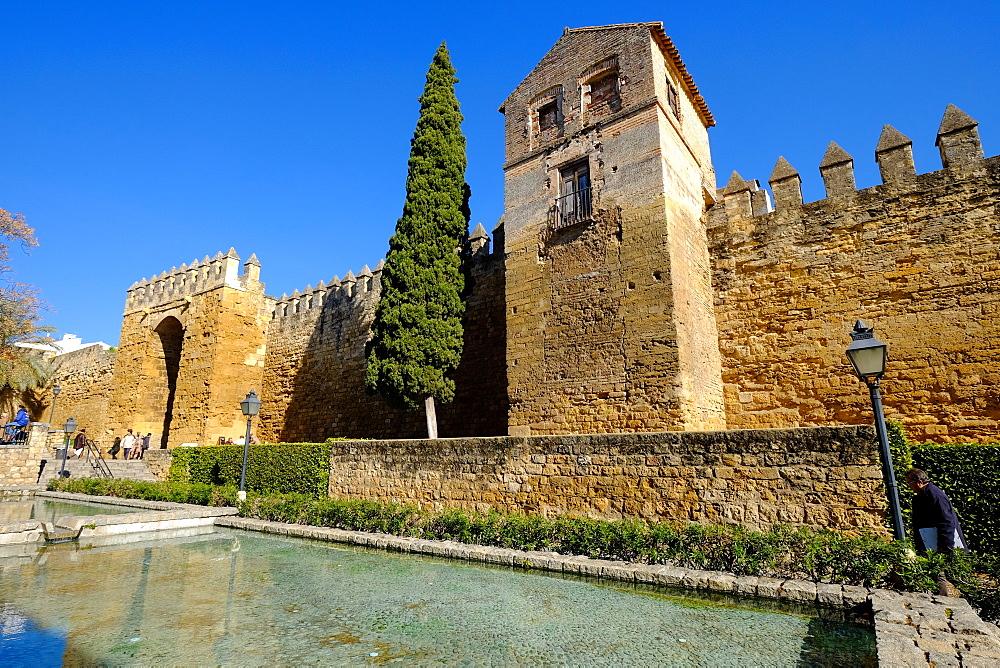 The Arab Puerta de Almodovar and the mediaeval wall, Cordoba, Andalucia, Spain, Europe