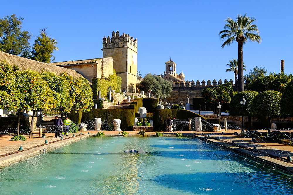 Alcazar de los Reyes Cristianos, UNESCO World Heritage Site, Cordoba, Andalucia, Spain, Europe