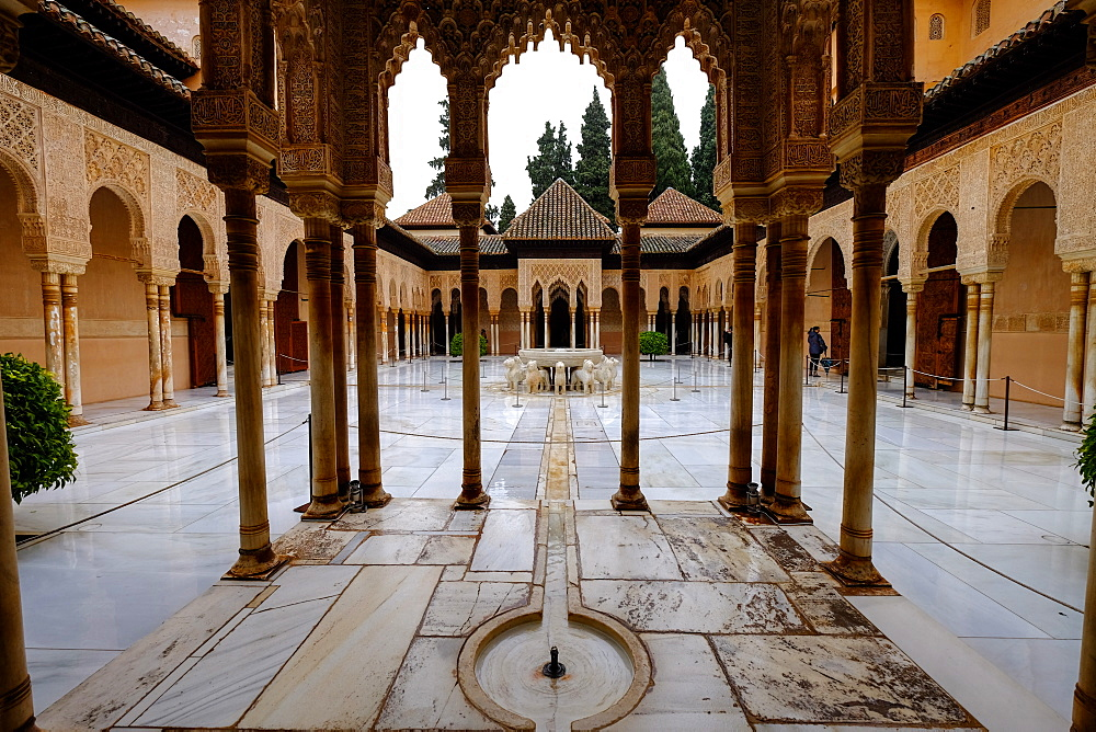 Palace of the Lions (Palacio de los Leones), The Alhambra, UNESCO World Heritage Site, Granada, Andalucia, Spain, Europe