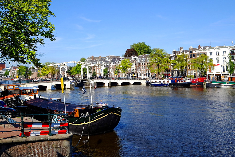Magere Brug on Amstel River, Amsterdam, The Netherlands, Europe
