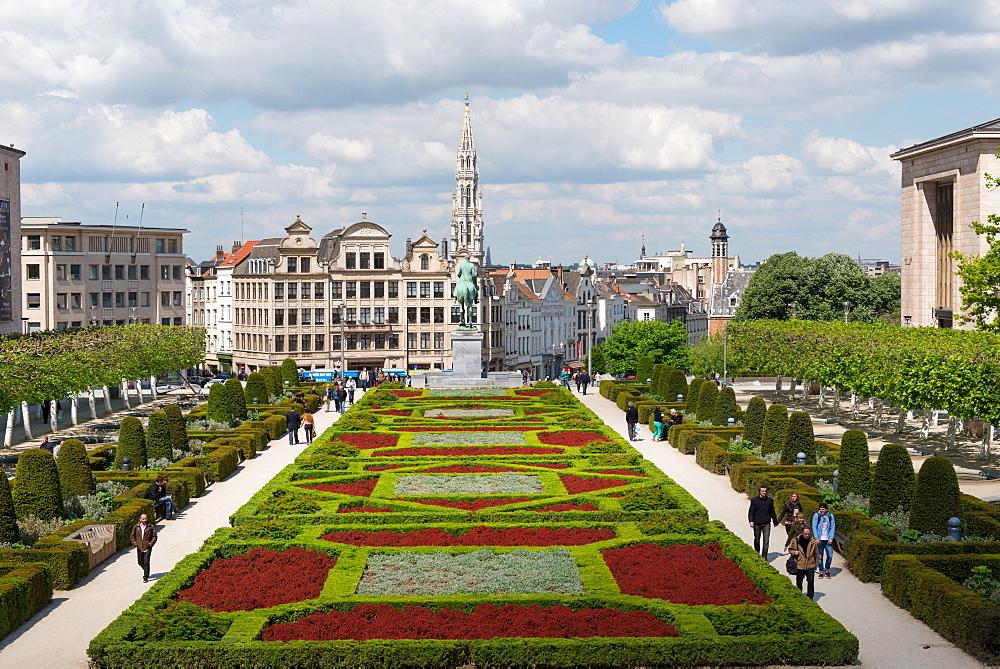 Mont des Arts Garden, Brussels, Belgium, Europe
