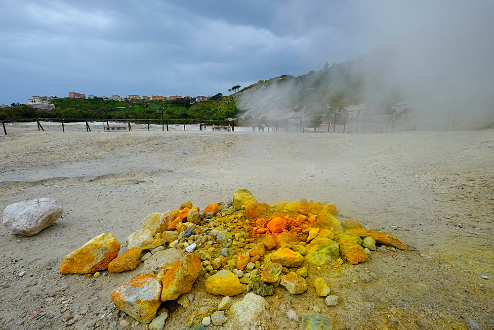 Solfatara, volcanic crater with active fumaroles, Pozzuoli, Naples, Campania, Italy, Europe