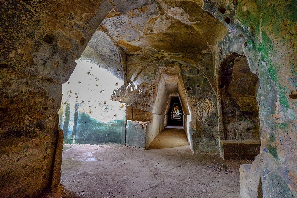 Antro della Sibilla, Cave of the Sibyl, Cumae, Bacoli, Pozzuoli, Naples, Campania, Italy, Europe