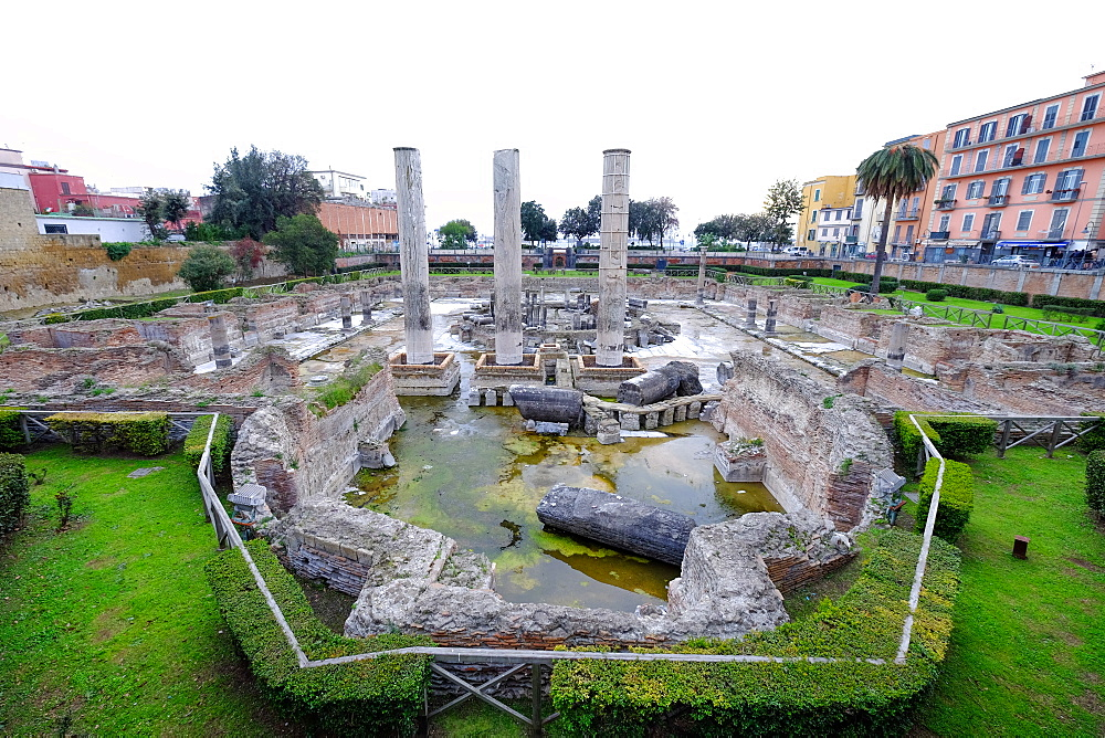 The Macellum of Pozzuoli, the market building of the Roman colony of Puteoli, Pozzuoli, Naples, Campania, Italy, Europe