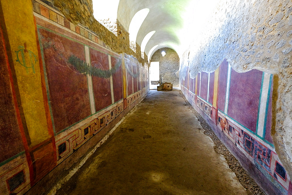 House of the Cryptoporticus, Pompeii, UNESCO World Heritage Site, the ancient Roman town near Naples, Campania, Italy, Europe - 819-702