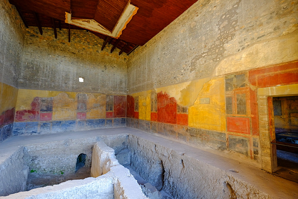House of Menander, Pompeii, UNESCO World Heritage Site, the ancient Roman town near Naples, Campania, Italy, Europe - 819-703