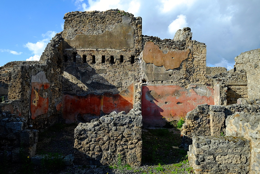 House of the Faun, Pompeii, UNESCO World Heritage Site, the ancient Roman town near Naples, Campania, Italy, Europe - 819-707