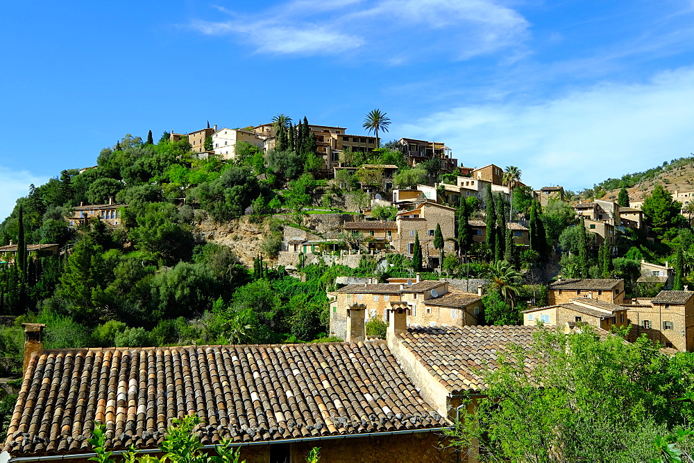 Deia village, Tramuntana Mountain Range, Majorca, Balearic Islands, Spain, Europe - 819-752