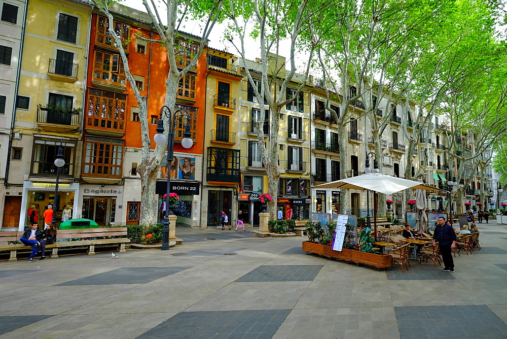 Passeig del Born, the shopping street of Palma, Majorca, Balearic Islands, Spain, Europe - 819-765