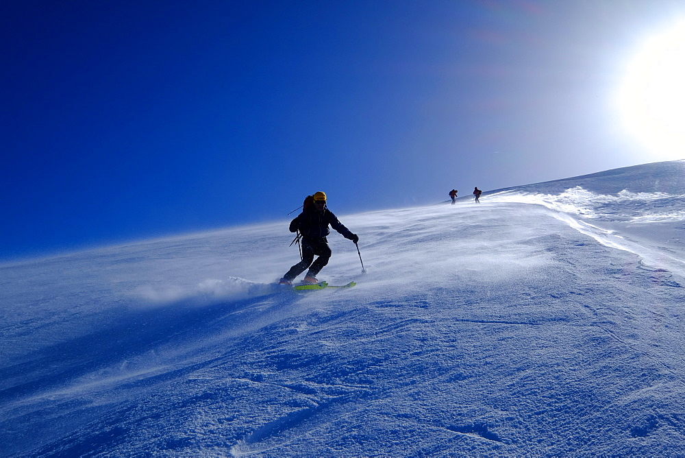 Ski mountaineering on Mount Etna, Catania, Sicily, Italy, Europe - 819-791