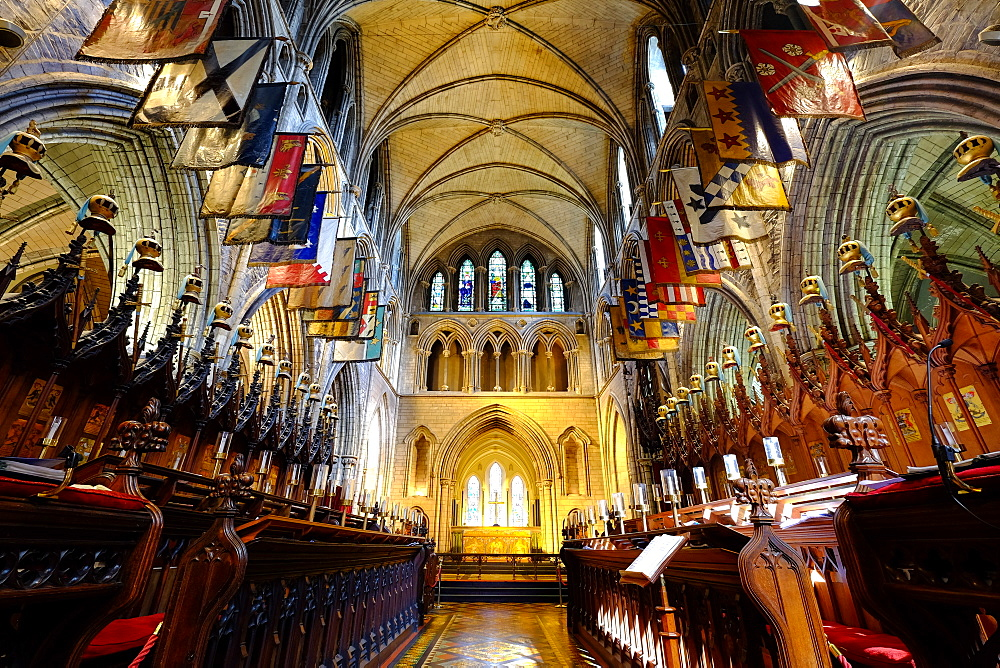 The choir in St Patrick's Cathedral, Dublin, Ireland, Europe
