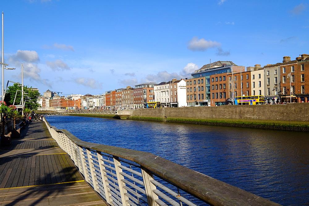 River Liffey flows through the centre of Dublin, Ireland, Europe - 819-796
