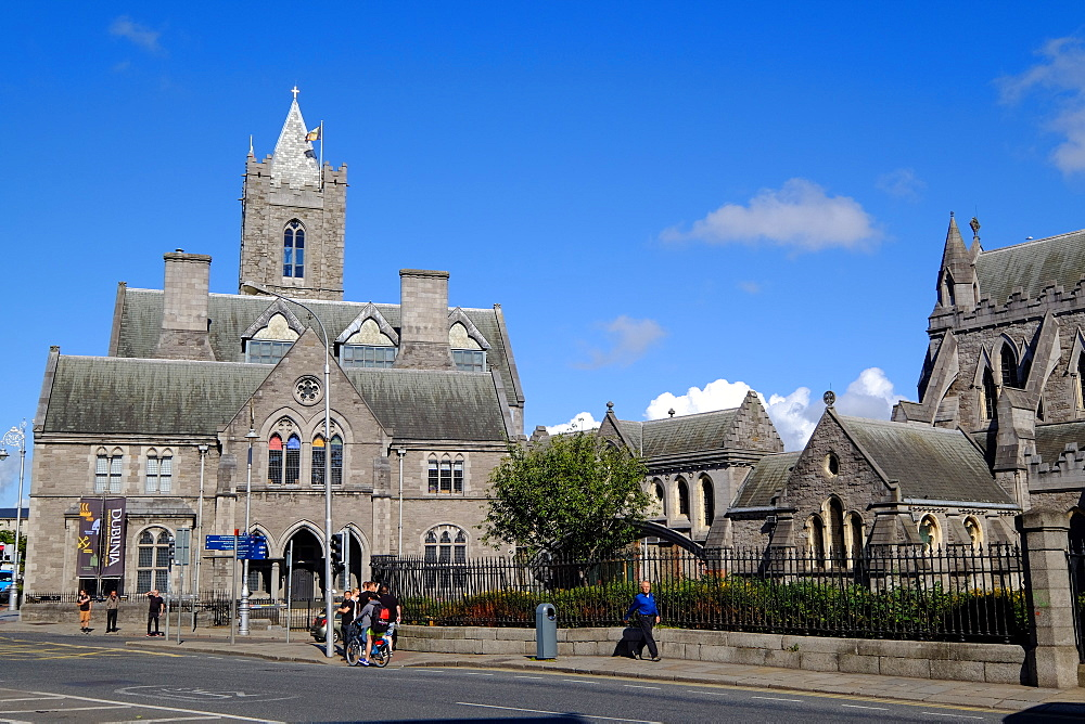 Christ Church Cathedral and the Synod Hall, the building that houses Dublinia, Dublin, Republic of Ireland, Europe