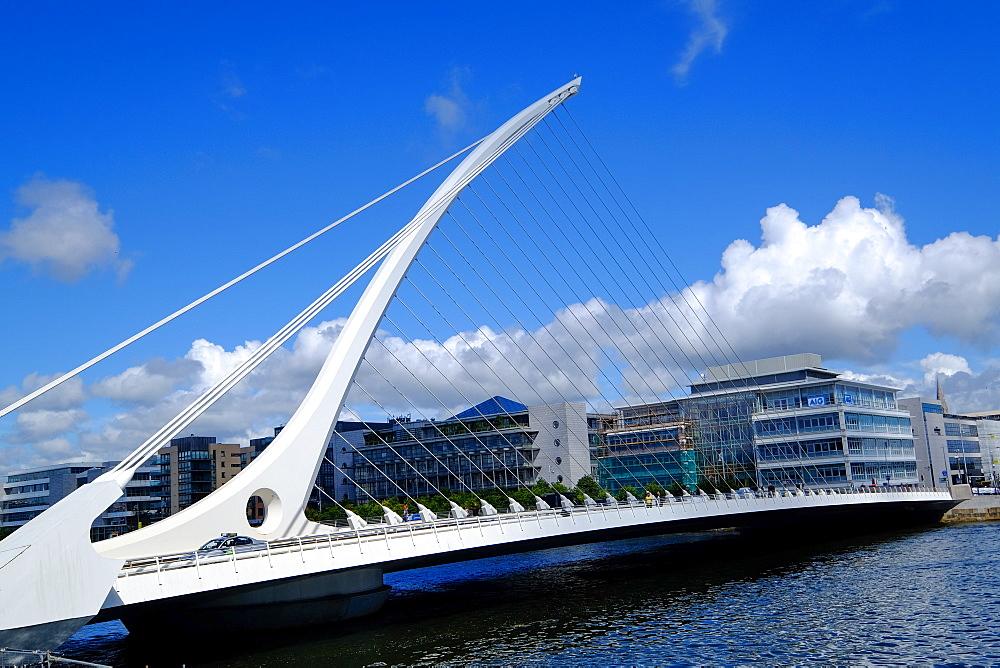 Samuel Beckett Bridge on Liffey River, Dublin, Ireland, Europe - 819-799