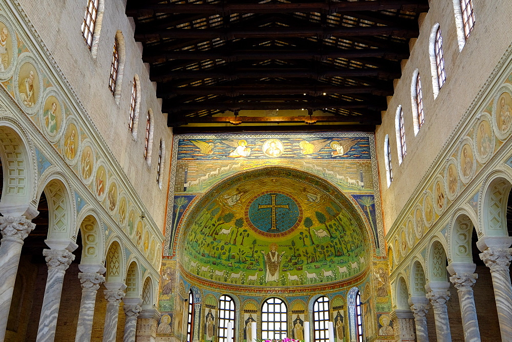 Basilica of Sant'Apollinare in Classe, UNESCO World Heritage Site, Ravenna, Emilia-Romagna, Italy, Europe