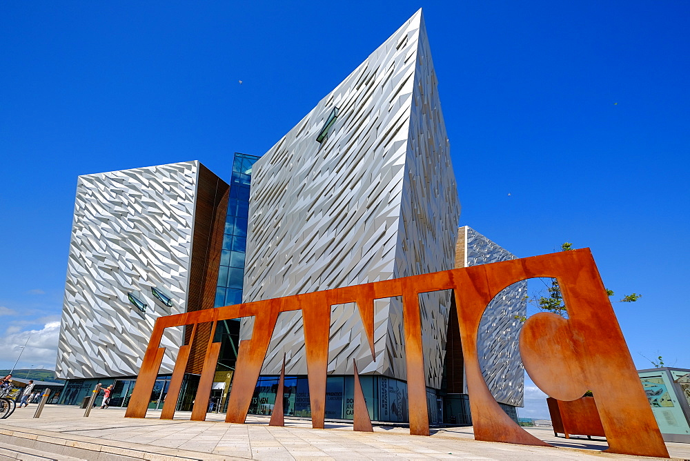Titanic Belfast museum on the site of the former Harland & Wolff shipyard, Belfast, Northern Ireland