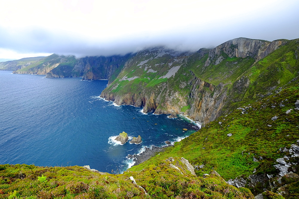 Slieve League's cliffs, County Donegal, Ulster, Republic of Ireland, Europe