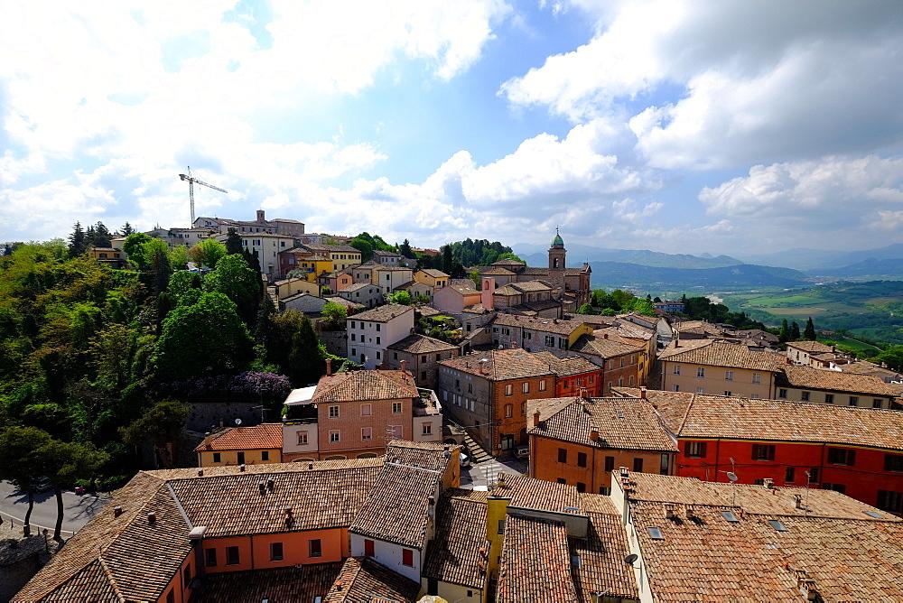 Rocca Malatestiana, Malatesta Castle, Verucchio, Rimini, Emilia Romagna, Italy, Europe - 819-884