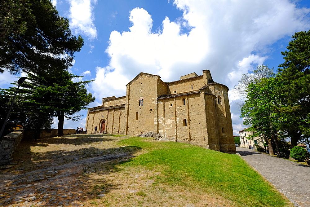 The Duomo di San Leone, the Romanesque cathedral of San Leo, Rimini province, Emilia Romagna, Italy, Europe - 819-886