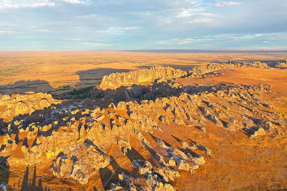 Sandstone landscape at Isalo National Park, Ihorombe Region, Fianarantsoa province, Madagascar, Africa - 819-986