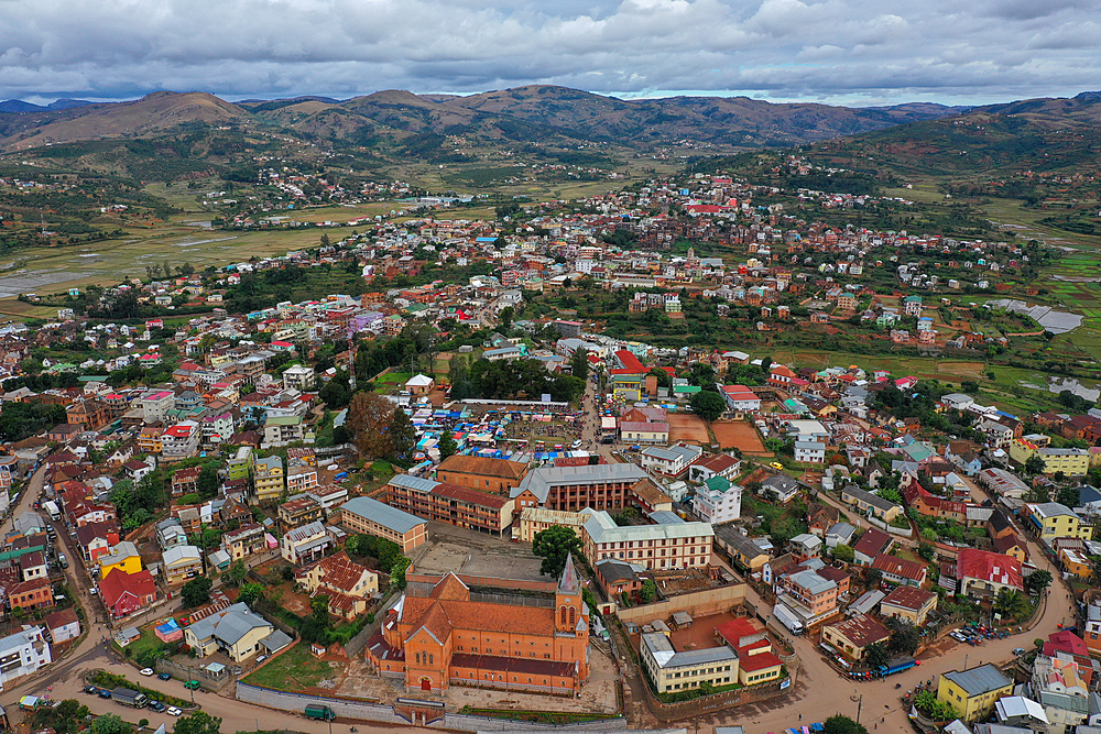 Ambositra, capital of the Amoron'i Mania region, Ambositra District. Centre of Madagascar's wood-carving industry, Madagascar