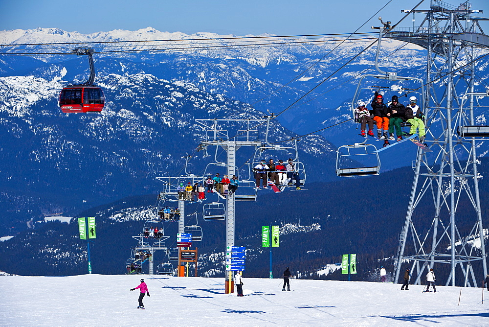 Whistler Blackcomb Ski Resort, Whistler, British Columbia, Canada, North America - 821-157